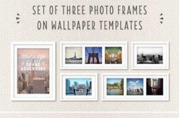 Photo Frames on Wallpaper Template 402351 6