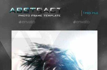 Abstract Photo Frame Template 13316594