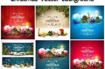 Christmas winter backgrounds, vector Christmas decoration 11