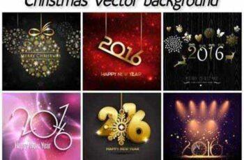 Christmas set, vector Christmas backgrounds 1