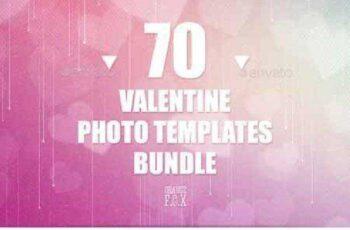 70 Valentine Photo Templates Bundle 14659580 3