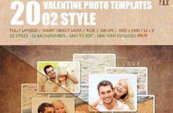 20 Valentine Photo Templates - Vol.02 14541960 8