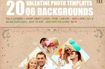20 Valentine Photo Templates - Vol.01 14480805 7