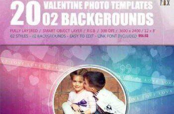 20 Valentine Photo Templates - Vol.03 14638383 4