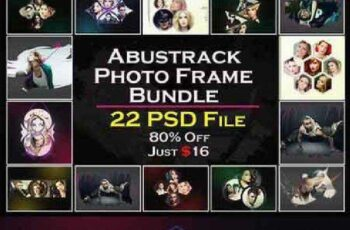 Abstrack Photo Frame Bundle 672964 5