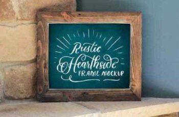 8x10 Rustic Hearthside Frame Mockup 684046 3