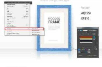 Wooden Rectangle Frames Set 692389