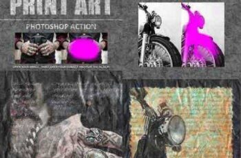Print Art Photoshop Action 16822850 3