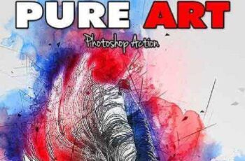Pure Art Photoshop Action 17170951