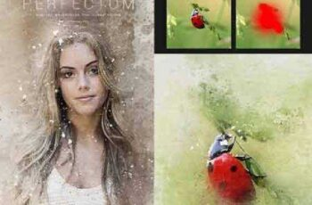 Perfectum - Vintage Watercolor Photoshop Action 17228517 10
