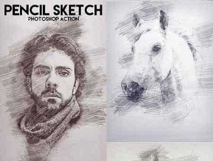 Pencil Sketch Photoshop Action 17227306 - Free PSD download, free ...