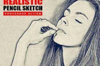 Realistic Pencil Sketch Photoshop Action 17224591