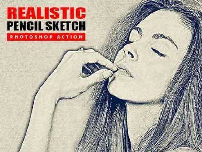 Realistic pencil sketch photoshop action 17224591 free download photoshop action lightroom preset psd template mockup vector stock font