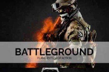 Battleground Flame Phtoshop Action 840356 7