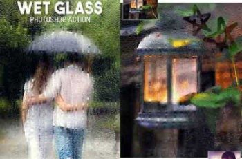 Wet Glass Photoshop Action 17358079 6