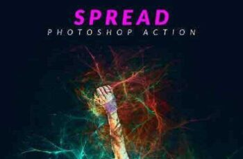 Spread Photoshop Action 17377705