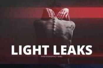 Pro Light Leaks Photoshop Action 838818 4