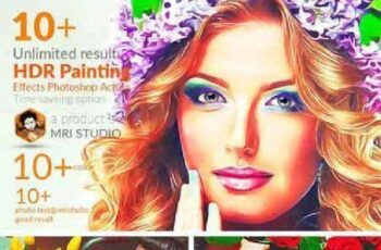 HDR Painting Effect Photoshop Action 845893 4