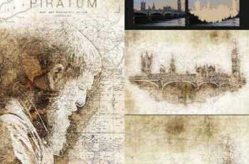 Piratum - Map Art Photoshop Action 17397967 6