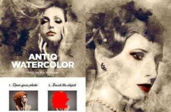 Antiq Watercolor CS3+ Photoshop Action 17449671 4