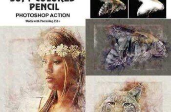 Soft Colored Pencil Photoshop Action 17485012 4