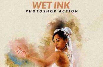 Wet Ink Photoshop Action 17496895