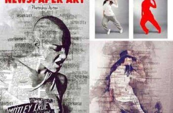 Newspaper Art Photoshop Action ( With Painting Effect ) 17461214