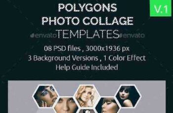 Polygons Photo Collage Templates 17072964 7