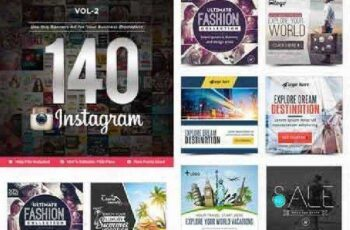 Instagram Templates(VOL-02) - 140 Designs 16123712 3
