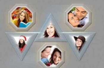 Photo Frame Template(20 in 02 PSD) 1019521 7
