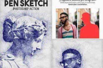 Pen Sketch Photoshop Action 18522026 2
