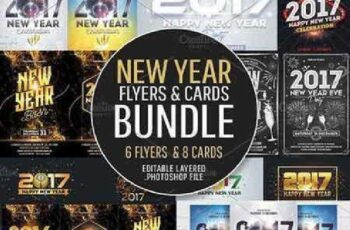 New Year Flyers & Cards Bundle 1035911 4