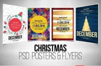 4 Christmas Flyer Template Bundle 928716 6
