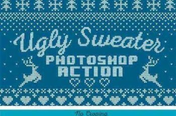 Ugly Sweater Photoshop Action 1049567 7