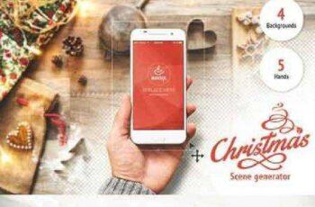 Christmas Scene Generator PSD Mockup 1046462 4