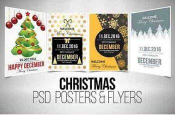 4 Christmas Flyer Template Bundle 937212 4