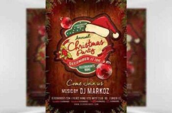 Annual Christmas Party Flyer Template 3