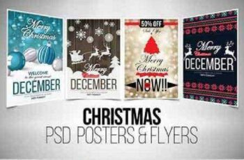 4 Christmas Flyer Template Bundle 919763 3