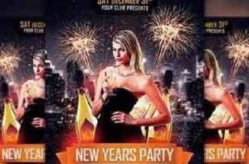 New Years Party Flyer Template 1098824 5