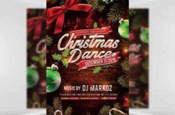 Christmas Dance Flyer Template 2