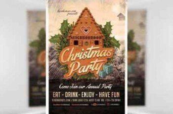 Neighborhood Christmas Party Flyer Template 8