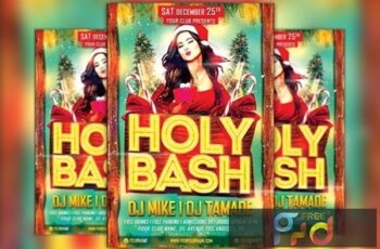 Holy Xmas Bash Flyer Template 1098299 3