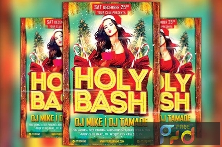 Holy Xmas Bash Flyer Template 1098299 1