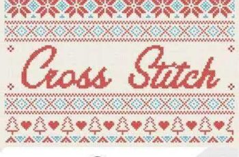 Christmas Cross Stitch Effect 1087677 6