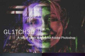 Glitch Set Of Photoshop Actions 1111230 6