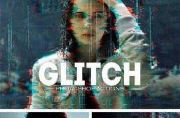 Pro Glitch Photoshop PSD Actions 1127007 3