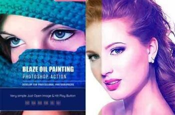 1804040 Blaze Oil Painting Action CS & CC 21451864 2