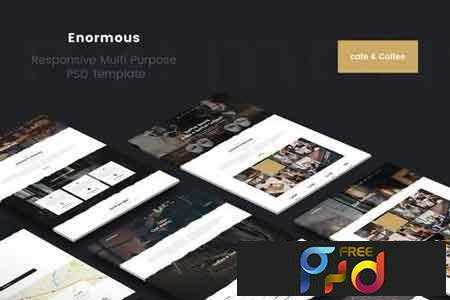 1804041 Enormous Cafe & Coffee PSD Template 1