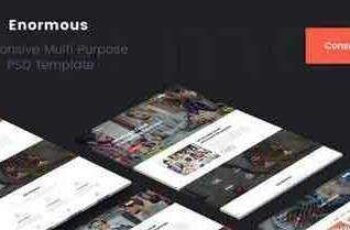 1804042 Enormous Consulting & Corporate PSD Template 3