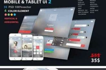 1804048 Mobile and Tablet UX UI kit 2 1966000 3